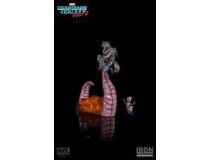 Фигурка-статуя Ракета и Грут - Battle Diorama Series