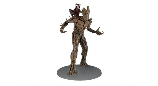 Коллекционная фигурка-статуя Грут и Ракета