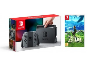 Nintendo Switch Gray + Игра The Legend of Zelda: Breath of the Wild