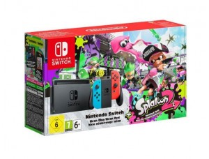Nintendo Switch Neon blue/red + Игра Splatoon 2