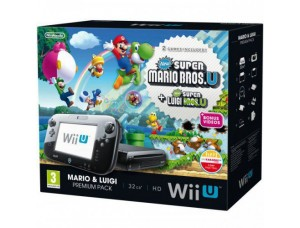 Nintendo Wii U 32GB Premium Pack + Super Mario Bros U