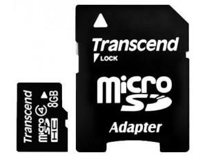 Карта памяти MicroSD 8Gb + Adaptor для PSP