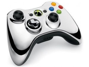 Chrome Silver Wireless Controller