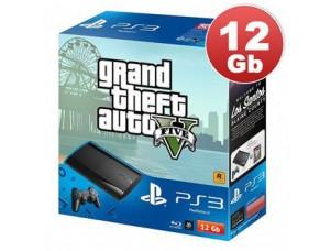 Sony Playstation 3 Super Slim 12 Gb + игра GTA 5