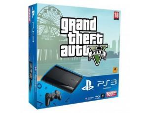 Sony Playstation 3 Super Slim 500 Gb + Игра GTA 5