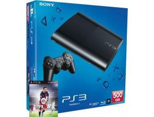 Sony Playstation 3 Super Slim 500 Gb + игра FIFA 16