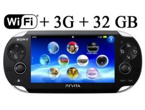 Sony PS Vita Black Wi-Fi + 3G + Карта памяти на 32 GB