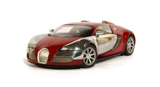 Масштабная модель Bugatti Veyron Centenaire 2009 Italian Red Acchille Varzi